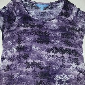 Simply Vera Wang medallion tie dye ombre tee small